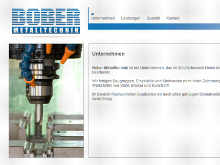 Websiteprojekt Bober Metalltechnik