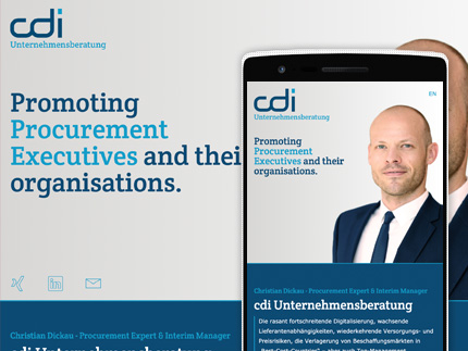 Websiteprojekt cdi Consulting