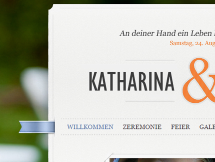 Websiteprojekt Weddingpage