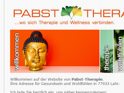 Websiteprojekt Pabst Physio
