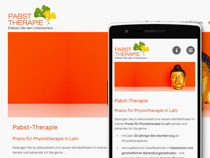 Websiteprojekt Pabst Therapie