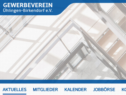 Websiteprojekt Gewerbeverein Ühlingen