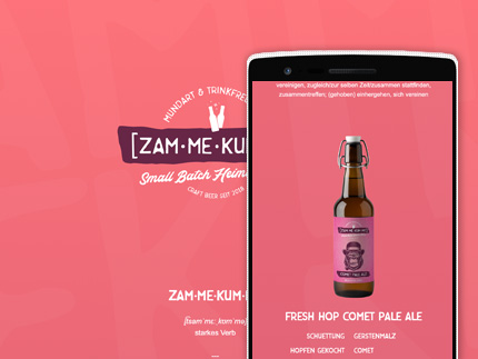 Websiteprojekt Zammekumme - Craft Beer